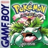Pokémon Green Game Boy Game Box Art Featuring Venusaur
