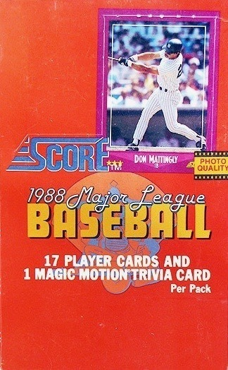 Unopened Full Box of 1988 Score Baseball Cards