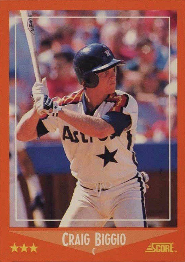 1988 Score Traded #103T Craig Biggio Rookie Card
