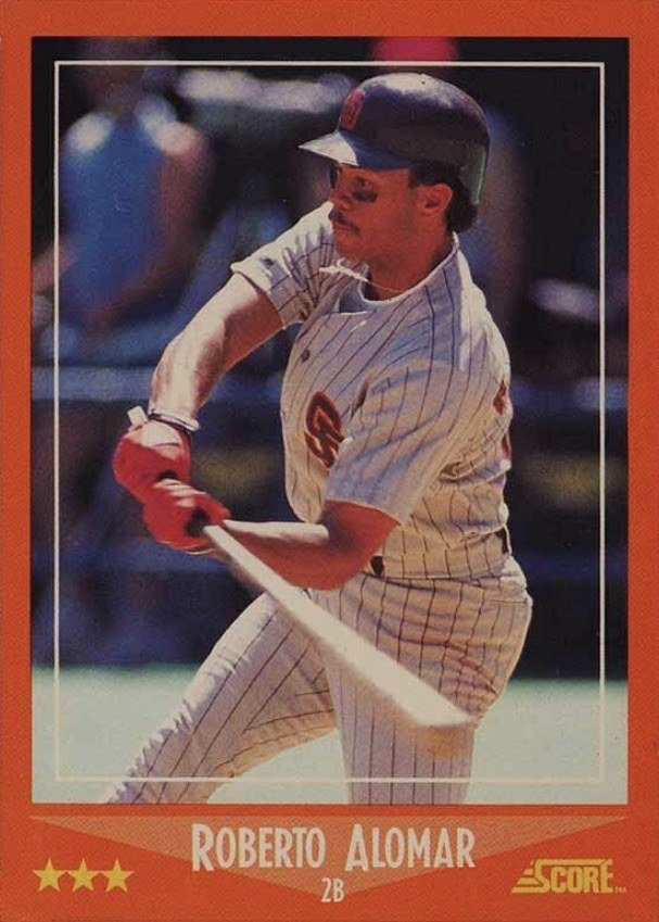 1988 Score Traded #105T Roberto Alomar Rookie Card