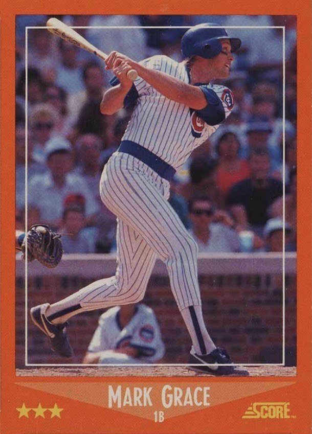 1988 Score Traded #80T Mark Grace Rookie Card