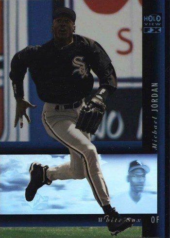 1994 SP Holoview Blue #16 Michael Jordan Baseball Card