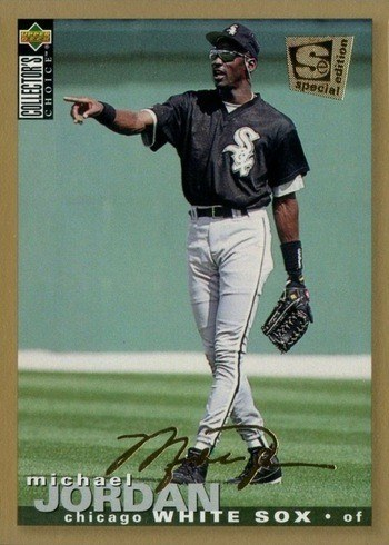 1995 Collector's Choice SE Gold Signature #238 Michael Jordan Baseball Card