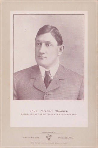 1902 W600 Sporting Life Cabinets Honus Wagner Rookie Street Clothes Variation