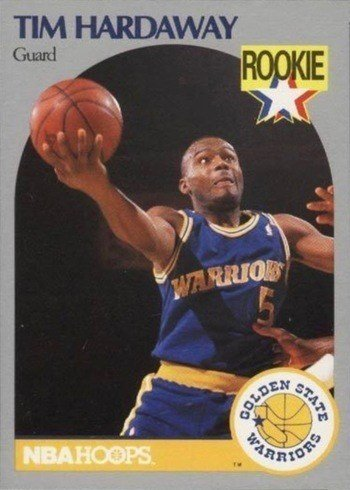 1990 NBA Hoops #113 Tim Hardaway Rookie Card