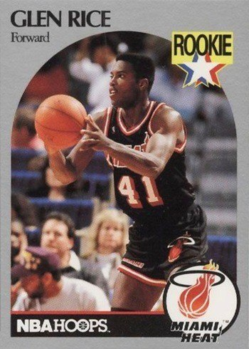 1990 NBA Hoops #168 Glen Rice Rookie Card