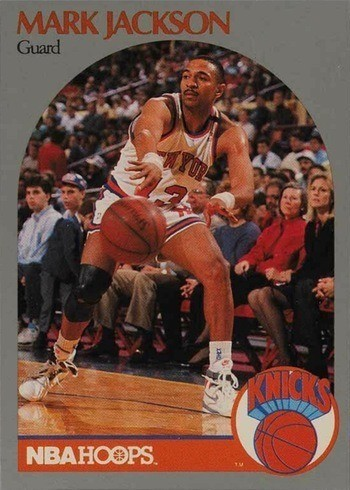 1990 NBA Hoops #205 Mark Jackson Basketball Card