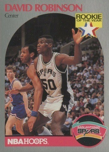 1990 NBA Hoops #270 David Robinson Basketball Card