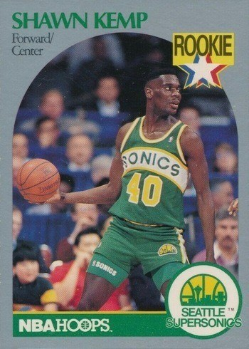 1990 NBA Hoops #279 Shawn Kemp Rookie Card