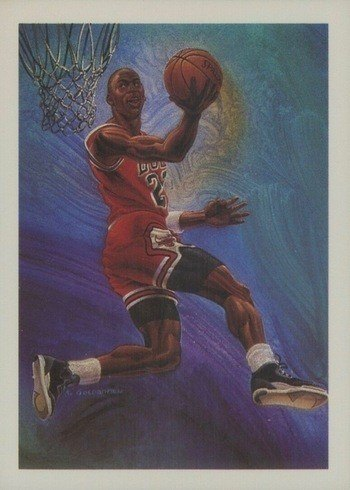 1990 NBA Hoops #358 Michael Jordan Artwork Card