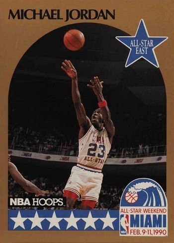 1990 NBA Hoops #5 Michael Jordan All-Star Card