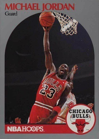 1990 NBA Hoops #65 Michael Jordan Basketball Card