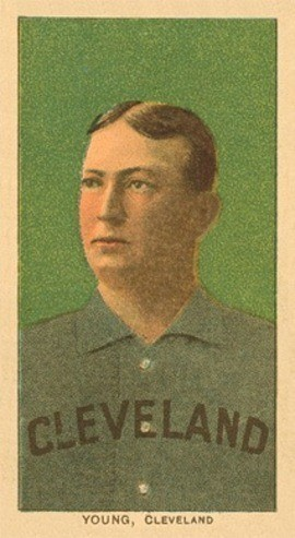 T206 Cy Young Green Portrait Baseball Card
