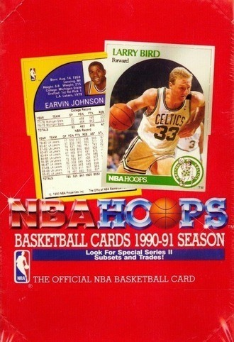 Unopened Box of 1990 NBA Hoops Cards