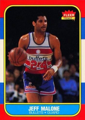 1986 Fleer #67 Jeff Malone Basketball Card
