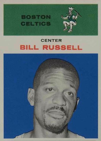1961 Fleer #38 Bill Russell Basketball Card