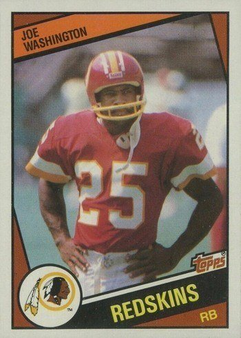 1984 Topps #393 Joe Washington Football Card