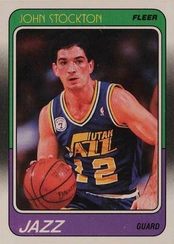 1988 Fleer #115 John Stockton Rookie Card