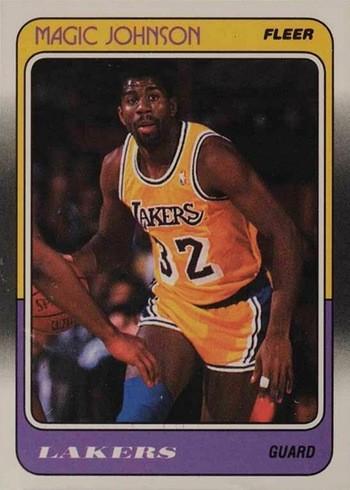 1988 Fleer #67 Magic Johnson Basketball Card
