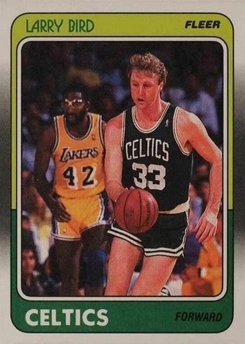1988 Fleer #9 Larry Bird Basketball Card