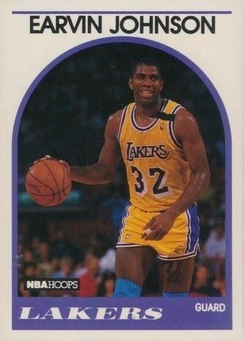 1989 NBA Hoops #166 Magic Johnson Basketball Card