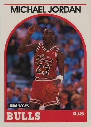 1989 NBA Hoops #200 Michael Jordan Basketball Card