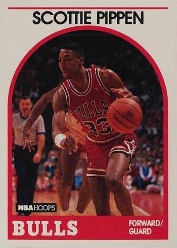 1989 NBA Hoops #244 Scottie Pippen Basketball Card
