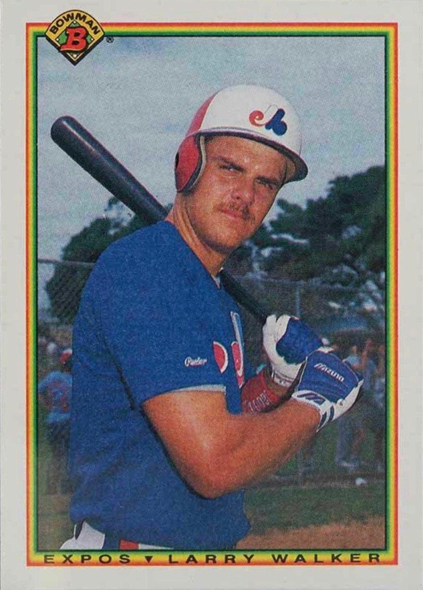 1990 Bowman #117 Larry Walker Rookie Card