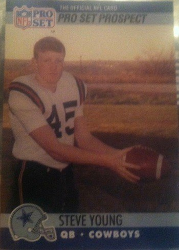 1990 Pro Set #666 Steve Young Vice President Promo Football Card