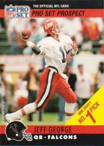 1990 Pro Set #669 Draft Day Jeff George With Falcons Football Card
