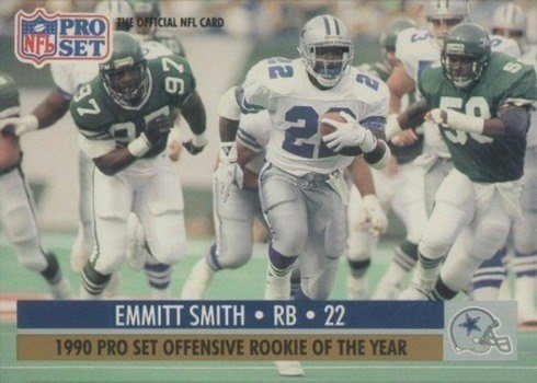 1990 Pro Set #800 Emmitt Smith Offensive Rookie of the Year Football Card