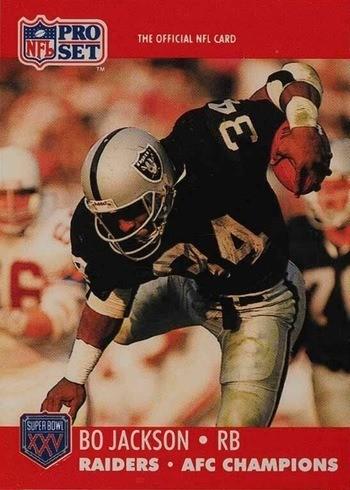 1990 Pro Set Bo Jackson Super Bowl XXV Football Card