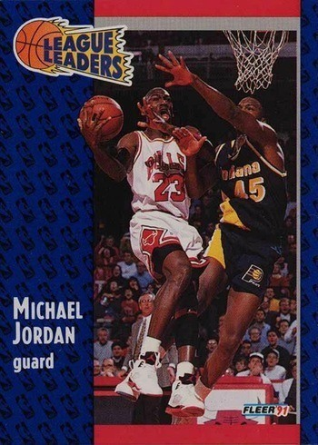 1991 Fleer #220 Michael Jordan League Leaders Card