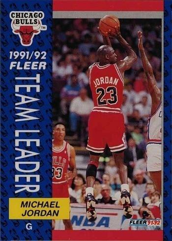 1991 Fleer #375 Michael Jordan Team Leader Basketball Card