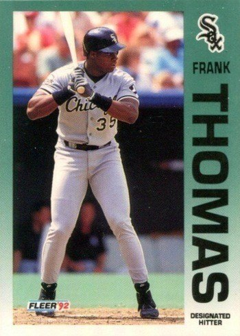 1992 Fleer #100 Frank Thomas Baseball Card
