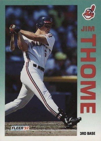 1992 Fleer #125 Jim Thome Rookie Card