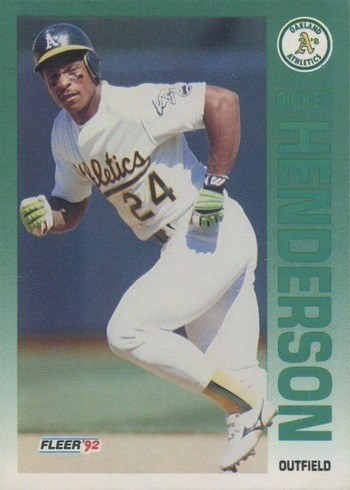 1992 Fleer #258 Rickey Henderson Baseball Card