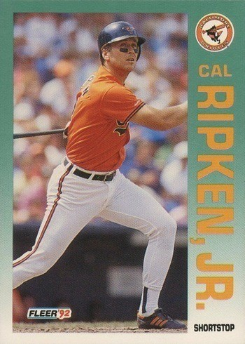 1992 Fleer #26 Cal Ripken Jr. Baseball Card