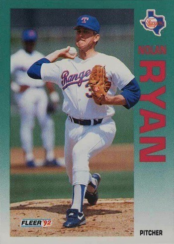 1992 Fleer #320 Nolan Ryan Baseball Card