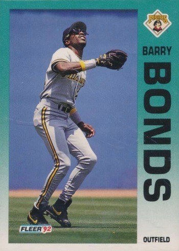 1992 Fleer #550 Barry Bonds Baseball Card