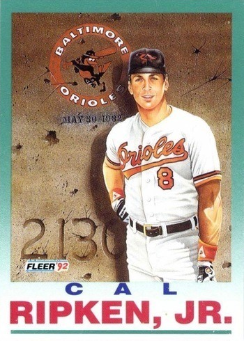 1992 Fleer #711 Cal Ripken Jr. Baseball Card