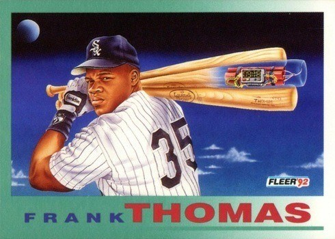 1992 Fleer #712 Frank Thomas Baseball Card