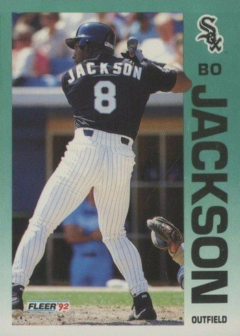 1992 Fleer #86 Bo Jackson Baseball Card