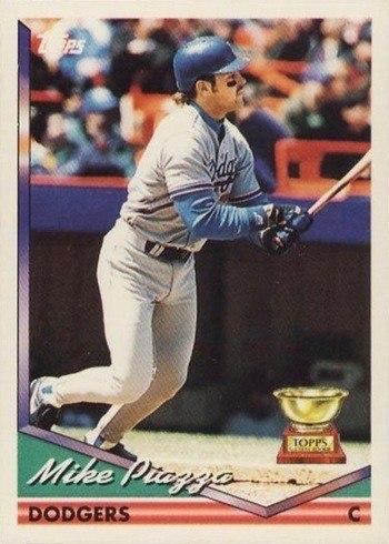 1994 Topps #1 Mike Piazza Baseball Card