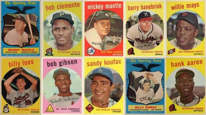 Most Valuable 1959 Topps Baseball Cards