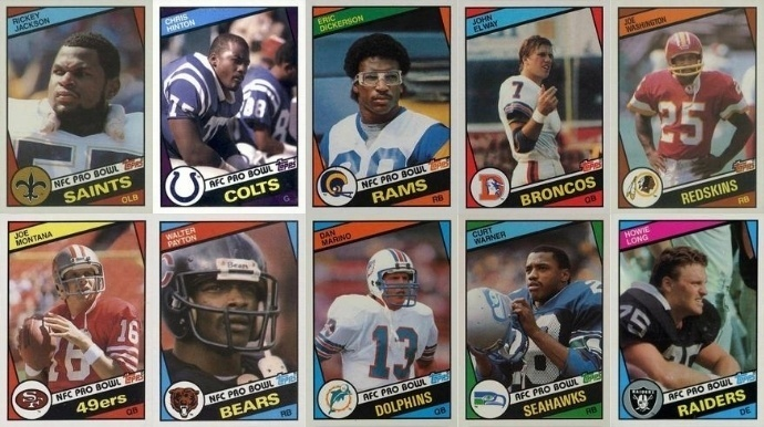 Most Valuable 1984 Topps Football Cards