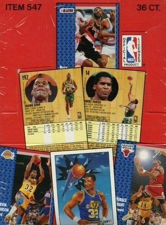Unopened Box of 1991 Fleer Basketball Cards