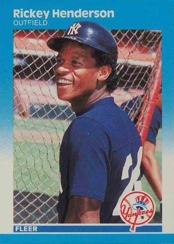 1987 Fleer #101 Rickey Henderson Baseball Card