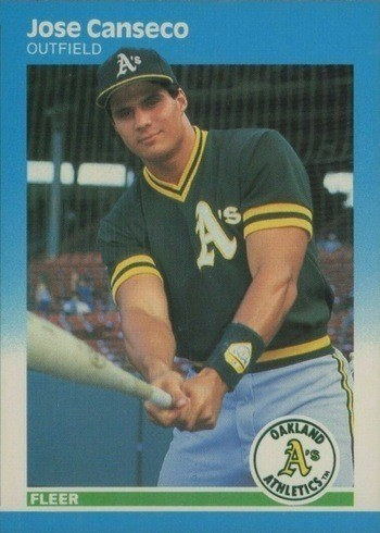 1987 Fleer #389 Jose Canseco Rookie Card