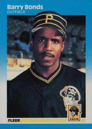 1987 Fleer #604 Barry Bonds Rookie Card